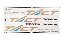 Набор наклеек (0906) HONDA TACT AF-16/24 на белом фоне