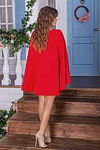 """Короткое платье-кейп """"Jane"""" с длинным рукавом (3 цвета), фото 3"""