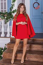 """Короткое платье-кейп """"Jane"""" с длинным рукавом (3 цвета), фото 2"""