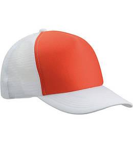 Кепка Тракер Оранжевый / Белый