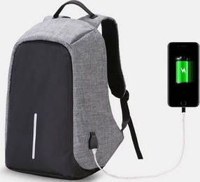 Городской рюкзак антивор Bobby Backpack от XD Design СЕРЫЙ реплика