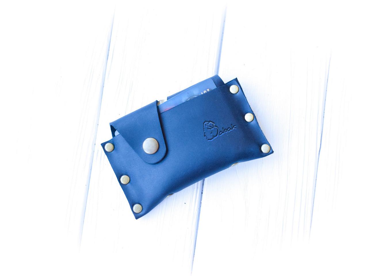 """Картхолдер кожаный для кредитных карт закрывается на две кнопки """"Mini"""""""