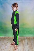 Спортивный костюм трикотаж детский темно-серый