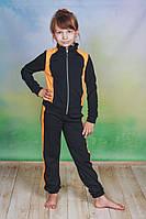 Спортивный костюм трикотаж детский черный
