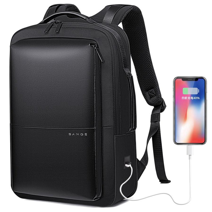 Классический деловой рюкзак Bange BG-S53, с USB портом, двумя отделениями и расширителем, до 32л