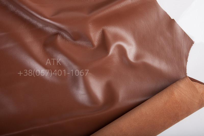Одежная наппа коричневая