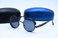 Солнцезащитные очки в стиле Ретро 6631 черные, фото 1