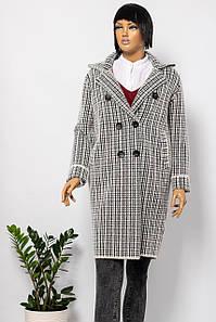 Пальто женское E-WOMAN C19-919 BLACK CHECK