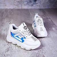 Молодёжные кроссовки из эко кожи 36-41 р маломерят, фото 1