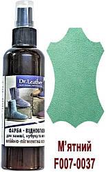 """Спрей-фарба аерозольна для замші, нубуку, велюра, аніліна олійно-пігментна 100 мл.""""Dr.Leather"""" М'ятний"""