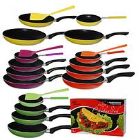 Набор сковородок с тефлоновым покрытием +ПОДАРОК