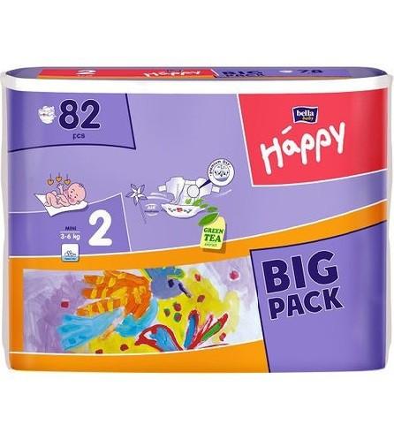 """Подгузники Bella Happy Baby Mini 2 (3-6 кг) 78 шт - Интернет-магазин """"СанГиг"""" в Харькове"""