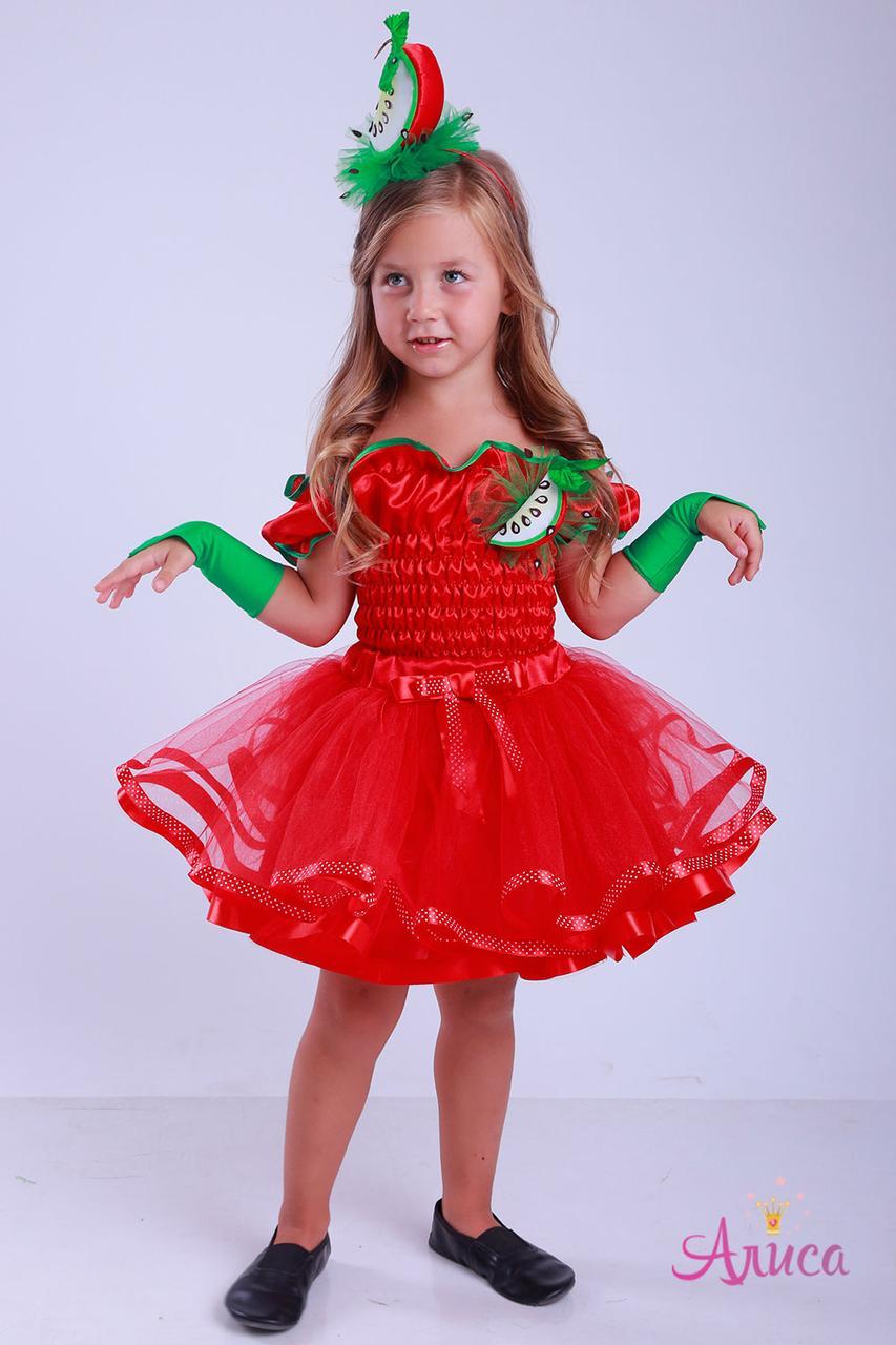 Карнавальный костюм красное Яблоко для девочки