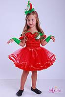 Карнавальный костюм красное Яблоко для девочки, фото 1