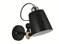 Светильник настенный LUMANO бра дизайнерский черынй ARLANDA 60В Е27 IP20   000016915