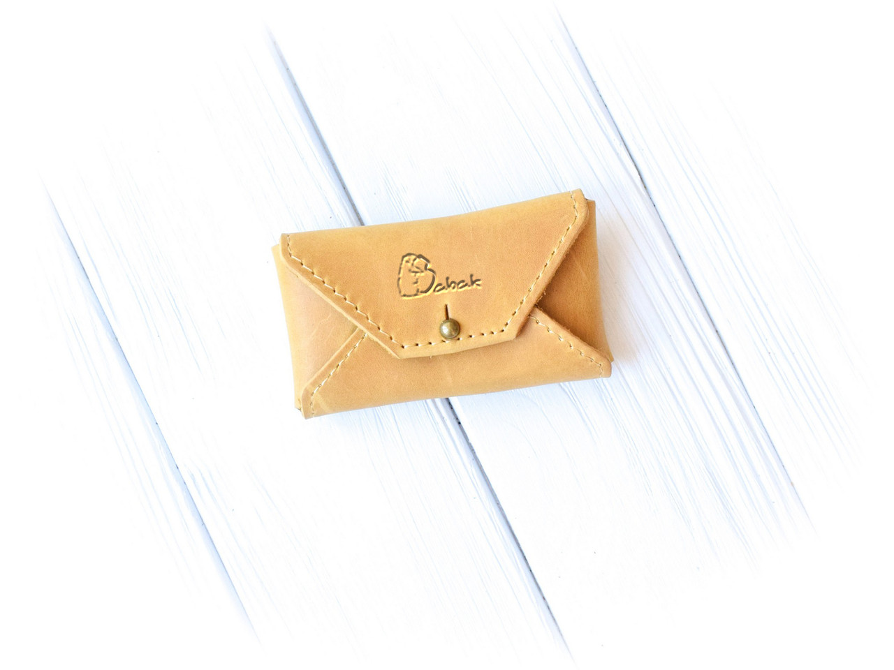 """Картхолдер шкіряний закривається на кобурний гвинт """"Business card"""""""