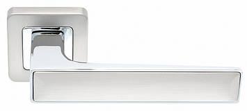 Ручка SAFITA TWIN, MSN/CP - матовий сатин нікель/хром, фото 2