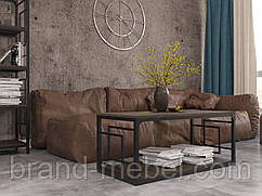 Стіл журнальний Квадро (стол журнальный) в стилі Лофт Loft