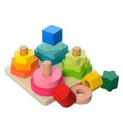 Деревянная игрушка Геометрика MD 1190