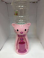 Кулер Котик розовый/Диспенсер для воды детский 2,5 л