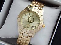 Женские кварцевые наручные часы Pandora (Пандора) золото, с метками-блестками, фото 1