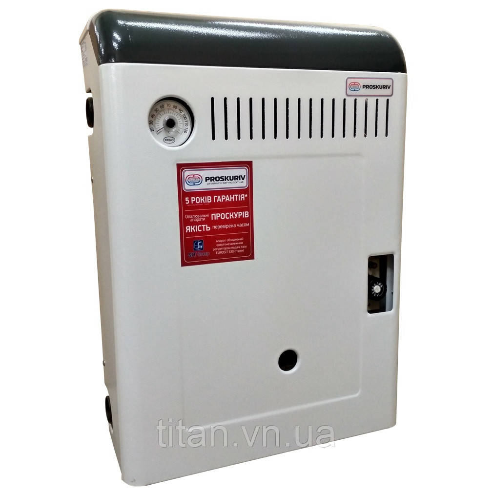 АОГВ-13. Газовий котел парапетний (бездимохідний) 13 кВт Проскурів лівий одноконтурний