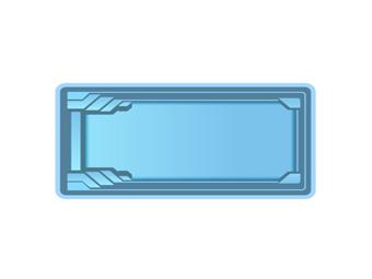 Пластиковый бассейн (длина: 8,50 м, ширина: 3,70 м, глубина: 1,50 м)