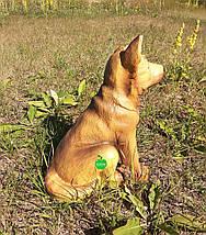 Садовая фигура собака щенок Немецкой овчарки, фото 3