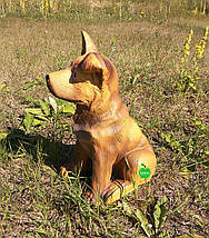 Садовая фигура собака щенок Немецкой овчарки, фото 2