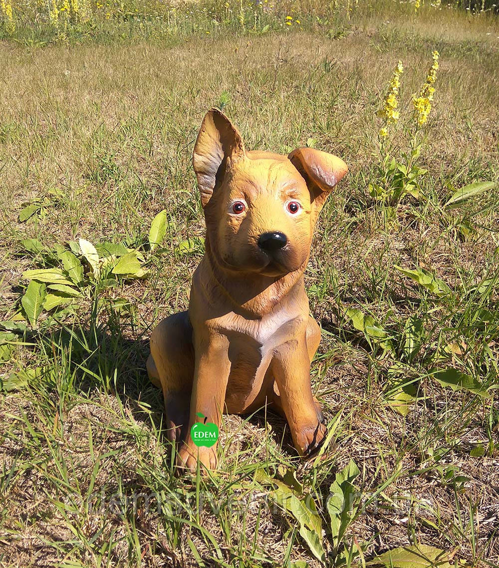 Садовая фигура собака щенок Немецкой овчарки