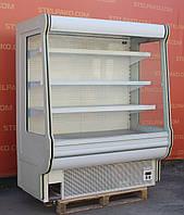 Холодильная горка (Регал) «Cold R-16» 1.6 м., (Польша), прозрачные боковые стекла, Б/у, фото 1