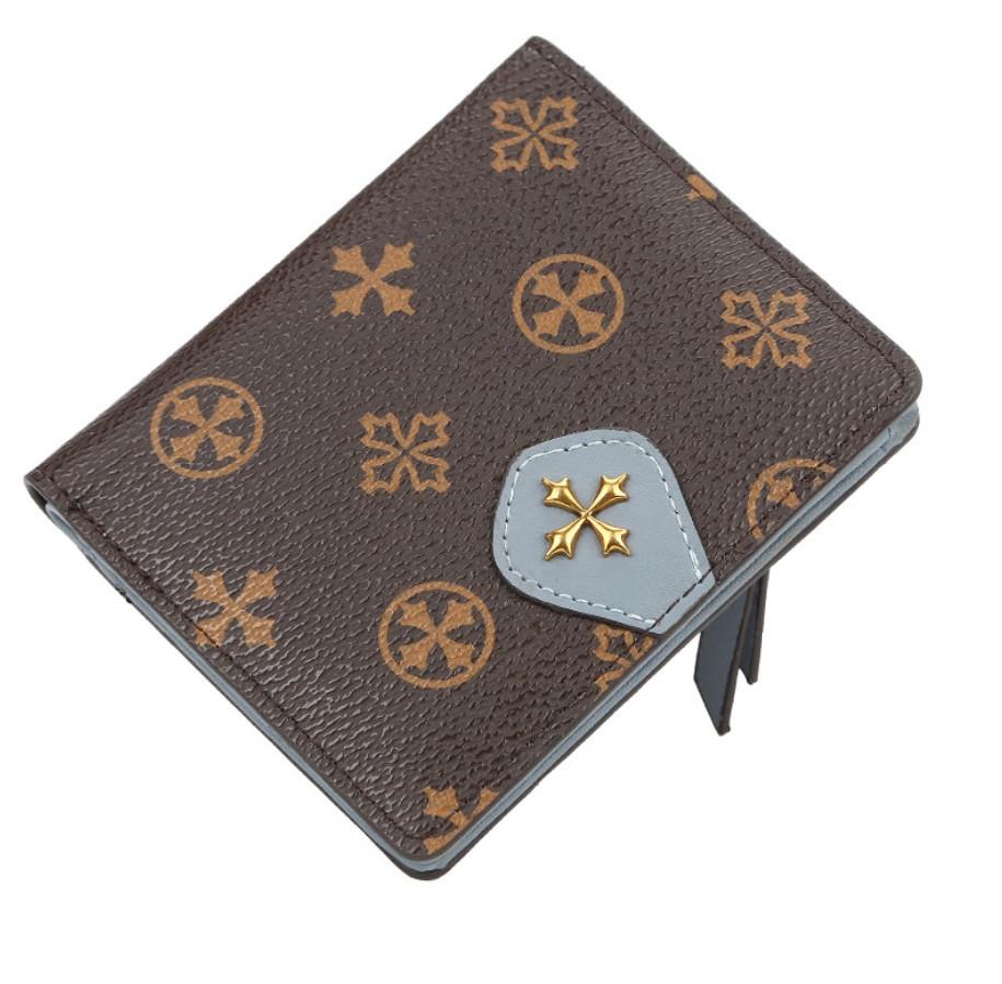 Жіночий гаманець BAELLERRY N5539 Fashion Style Mini клатч Коричнево-Блакитний (SUN5512)
