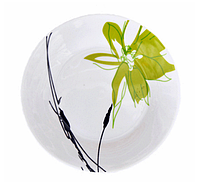 "Подставная тарелка ""Зеленый цветок"" 24см (фарфор)"