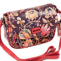 """Женская сумка кожаная BUTUN 3100-065-006 кросс-боди """"цветы"""""""