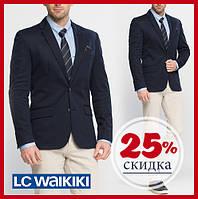 Мужской пиджак LC Waikiki / ЛС Вайкики классический с внутренним карманом, с 2-мя клапанами, на подкладке S