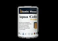Краска-антисептик на водной основе для фасадов домов, окон, дверей Aqua Color 1 л
