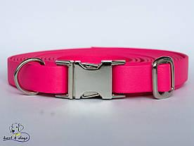 Ошейник из биотана, Розовый Малиновый, 19мм(метал.фастекс)
