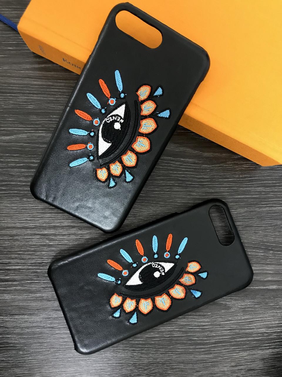 Плаcтиковый чехол для  iPhone 6 / 6S Черный с глазом, кожа