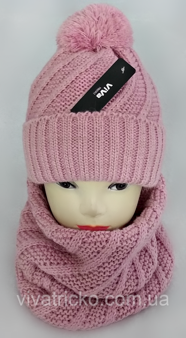 М 5102 Комплект женский шапка+баф, марс, флис