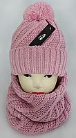 М 5102 Комплект женский шапка+баф, марс, флис, фото 1