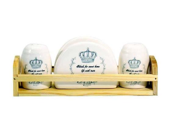 """Набор для специй 3 предмета Корона на подставке """"Interos"""", фото 2"""