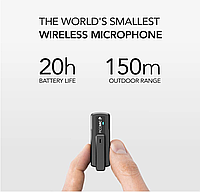 PicoMic 24bit/48Кhz Радио петличка микрофонная система для видеоблогеров + усовершенствованный аудиоприемник, фото 1