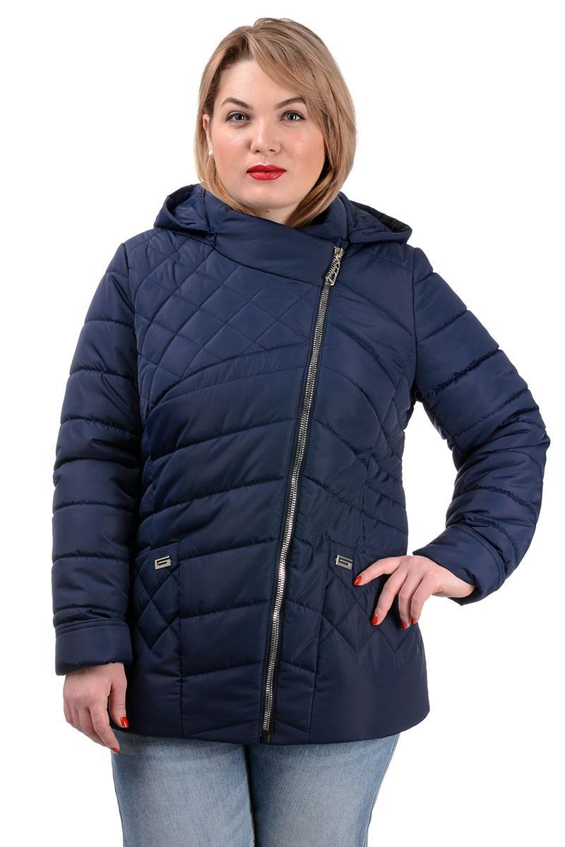 252 Стильная демисезонная куртка Тайра темно-синий (50-56)