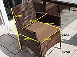 Обідній комплект меблів зі столом для саду ENDO 8+1, фото 7