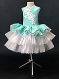 Пышное детское платье Бетти Мятное на 4-5, 6-7 лет, фото 3