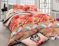 Комплект постельного белья двуспальный, полиэстер. Постільна білизна. (арт.7144)