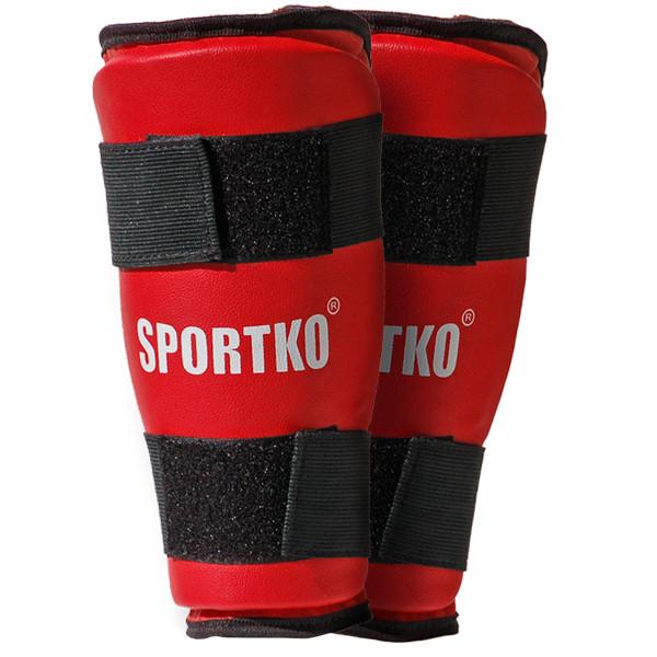 Защита голени SPORTKO арт. 332 красный, под заказ, 5 дней