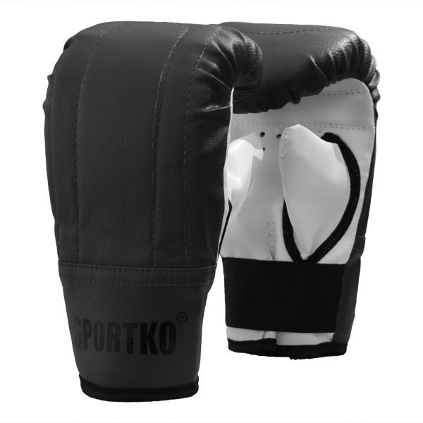 Снарядные перчатки кожвинил SPORTKO арт.ПД-3 черный S/M, под заказ, 5 дней