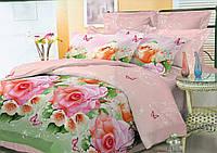 Комплект постельного белья двуспальный, полиэстер. Постільна білизна. (арт.10751)