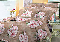 Комплект постельного белья двуспальный, полиэстер. Постільна білизна. (арт.11074)